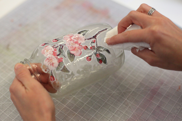 Decoupage Techniques How To Decorate A Glass Jar