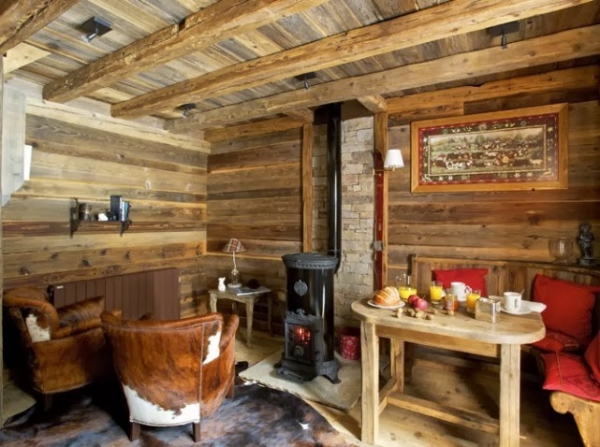 Delightful wood cabin adorable home for Decoration interieur chalet montagne