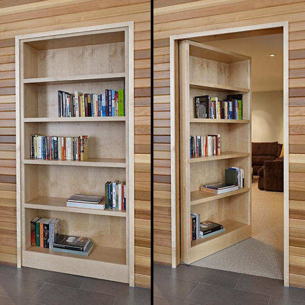 Designed for discretion the bookcase door (3)