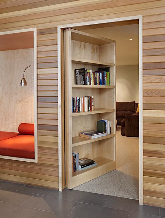 Designed for discretion the bookcase door (5)