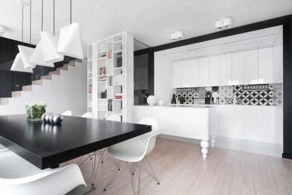 modern black and white interior (4)
