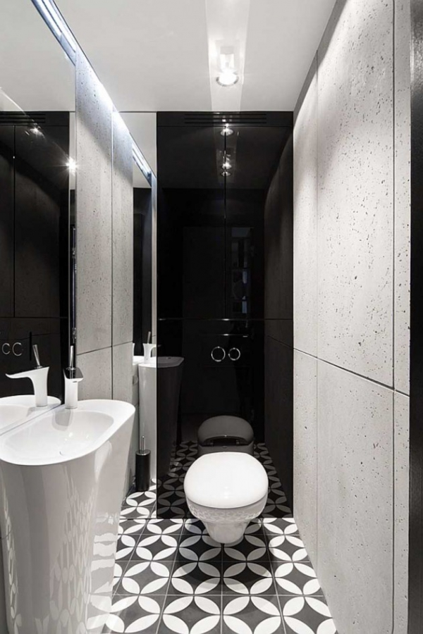 modern black and white interior (8)