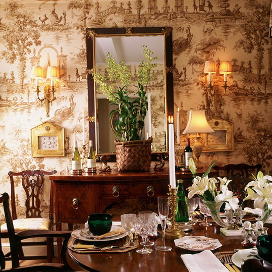 Wallpaper dining room ideas 2017 grasscloth wallpaper for Dining room wallpaper