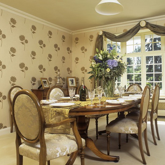 Dining Room Wallpaper Design : Dining room wallpaper designs adorable home