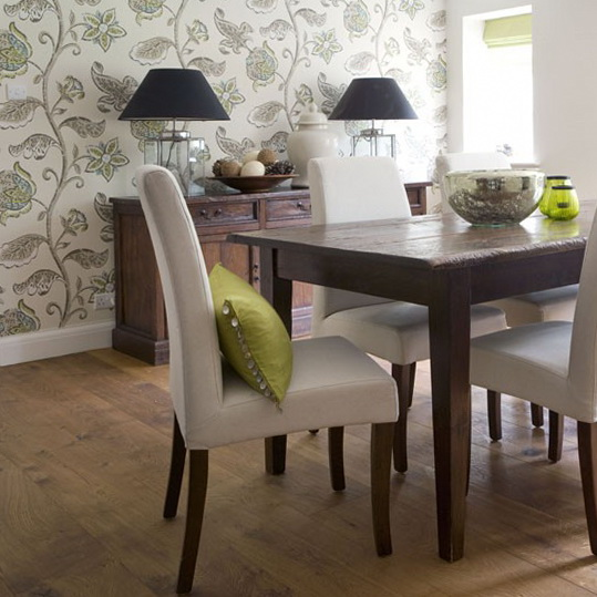 Wallpaper designs for dining room 2017 grasscloth wallpaper for Dining room wallpaper designs