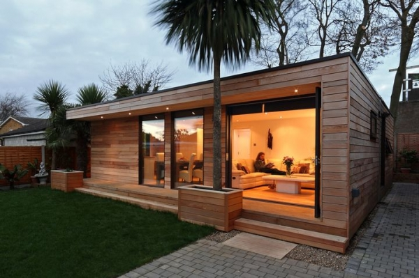 Eco friendly garden house adorable home for Prefabricated garden rooms