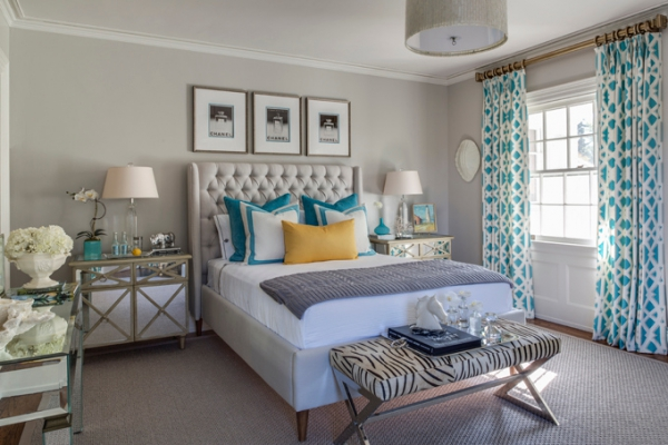elegant bedroom with a lovely color scheme adorable home