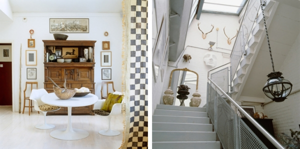 English house with striking decor