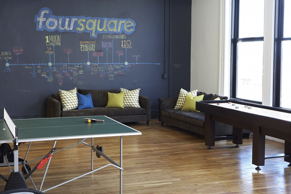 Charming Foursquares Cool Office Design 2