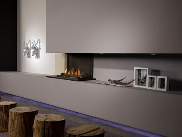 Modern fireplaces - Triple