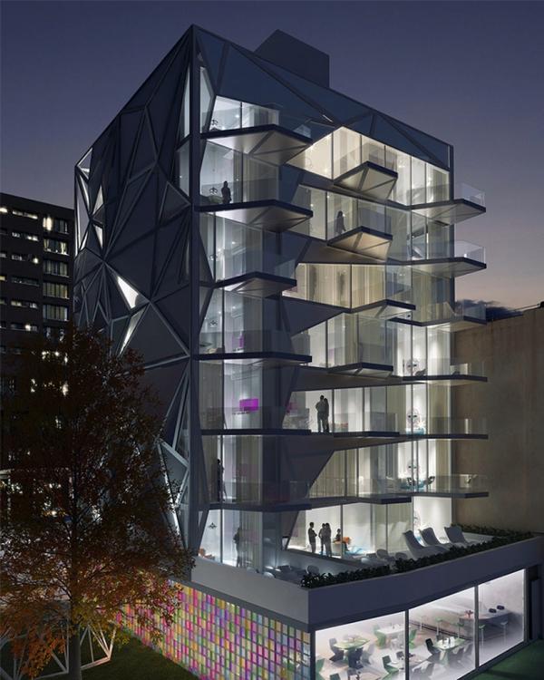 Futuristic Building In Manhattan Adorable Home