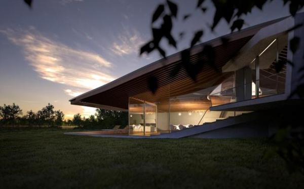 Futuristic house architecture House Birkensee  (10)