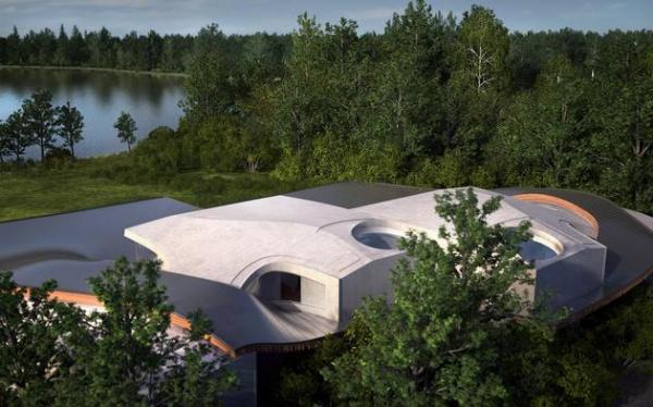 Futuristic house architecture House Birkensee  (11)