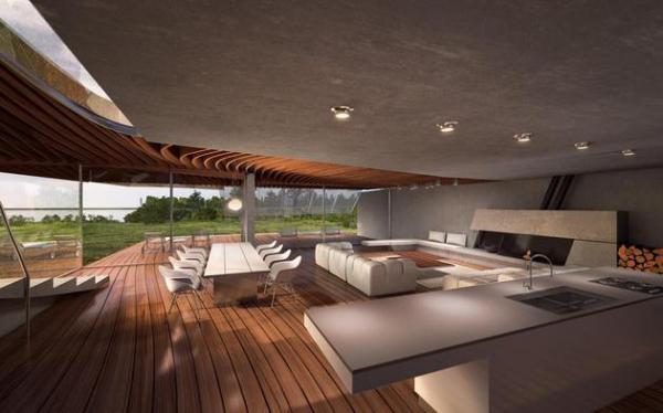 Futuristic house architecture House Birkensee  (4)