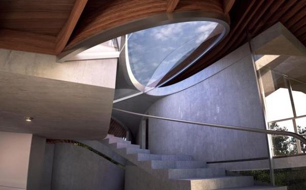 Futuristic house architecture House Birkensee  (6)