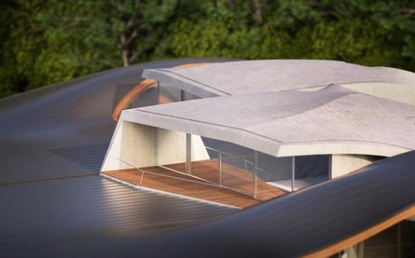 Futuristic house architecture House Birkensee  (8)