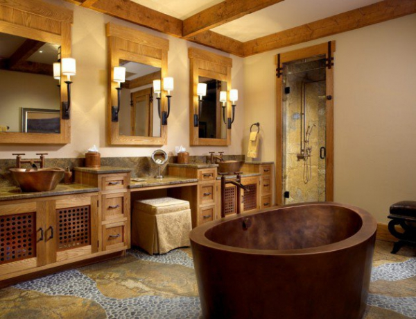 Get Inspired Rustic Bathroom Designs For The Modern Home (1) Part 17