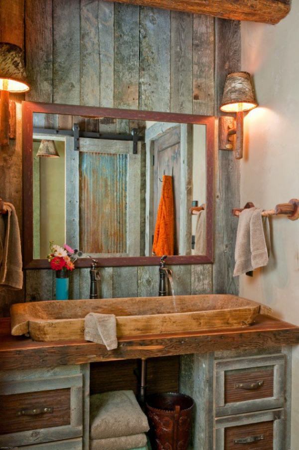 Get inspired rustic bathroom designs for the modern home (10)