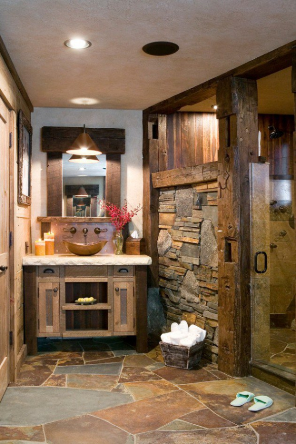 Get inspired rustic bathroom designs for the modern home (11)