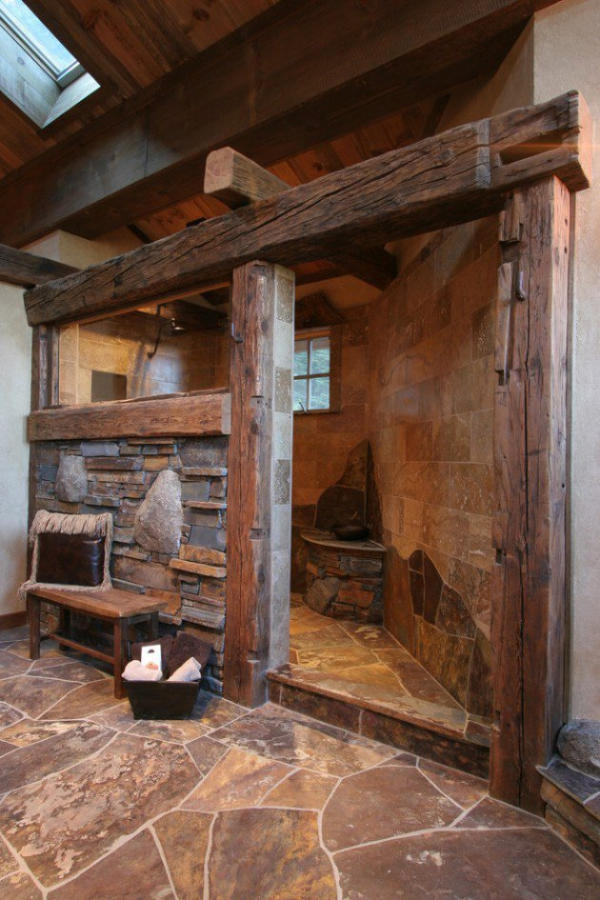Get inspired rustic bathroom designs for the modern home (12)