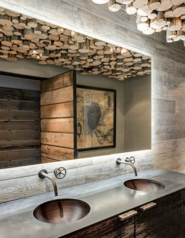 Get inspired rustic bathroom designs for the modern home (13)