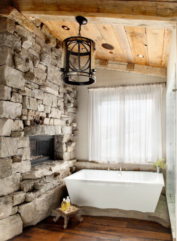 Get inspired rustic bathroom designs for the modern home (14)