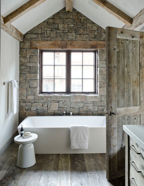 Get inspired rustic bathroom designs for the modern home (15)