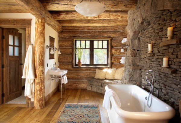 Get inspired rustic bathroom designs for the modern home (2)