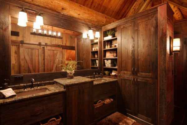 Get inspired rustic bathroom designs for the modern home (4)