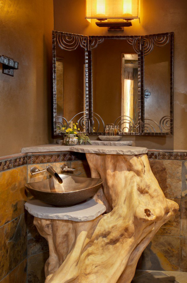 Get inspired rustic bathroom designs for the modern home (5)