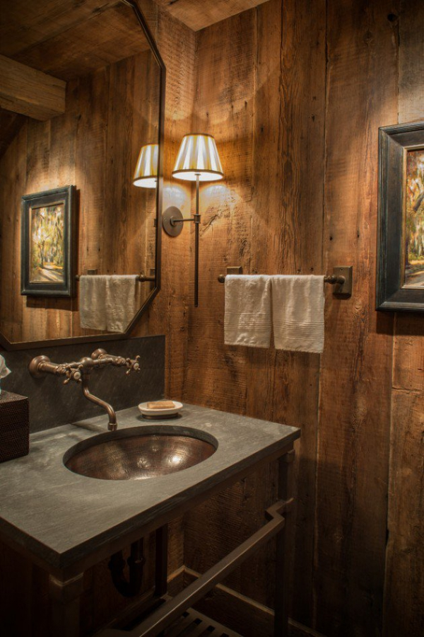 Get inspired rustic bathroom designs for the modern home (6)
