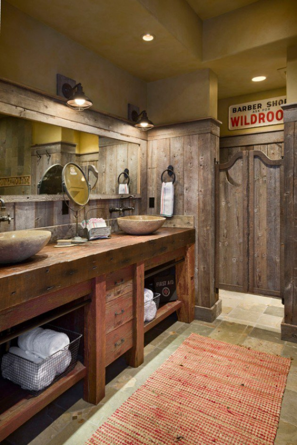 Get inspired rustic bathroom designs for the modern home (9)