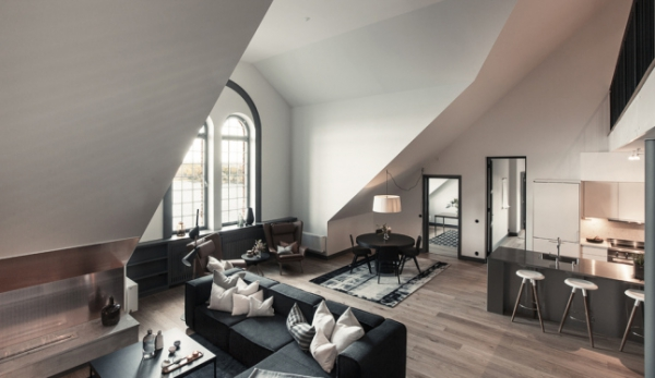 Gray decor triumphs in this Stockholm duplex (2)