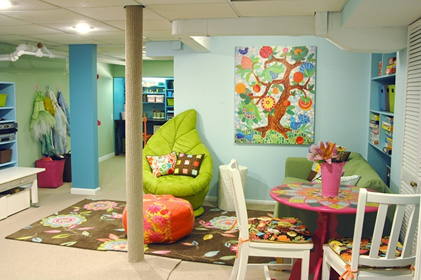 Great ideas for a basement conversion adorable home - Interior design ideas kids playroom ...