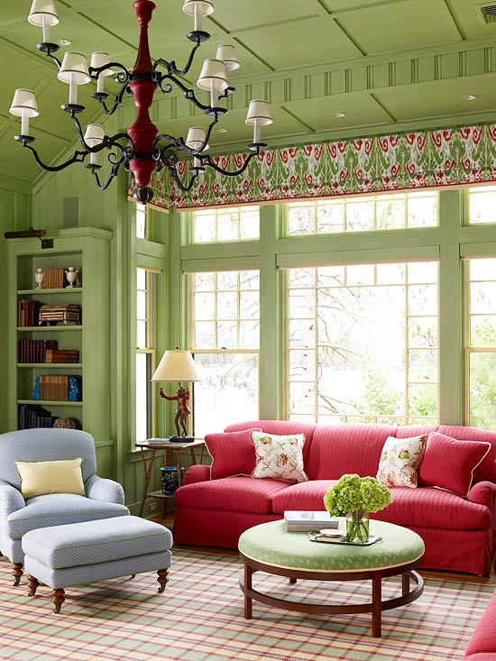 Green Living Room Designs
