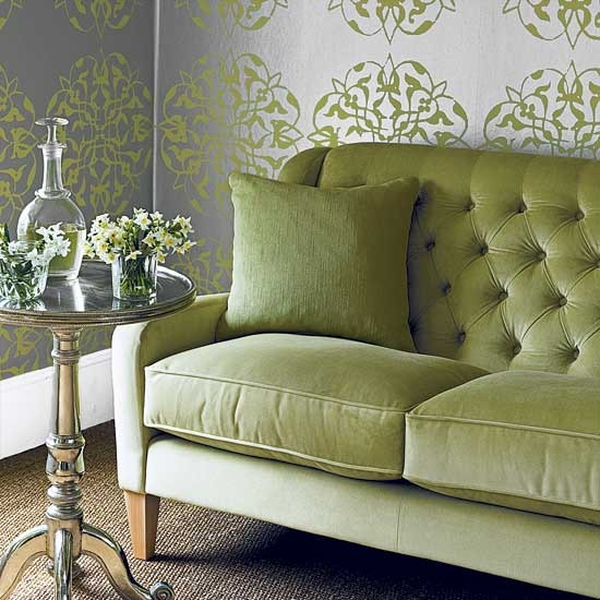 green living room designs 3. Green Living Room Designs   Adorable Home