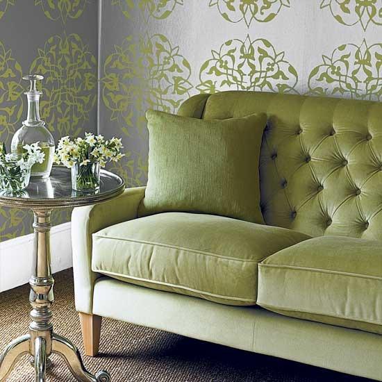 Green living room designs for Green living room designs