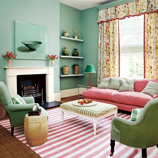 Green living room designs - Pretty green rooms ...