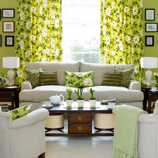 Green living room designs adorable home for Living room designs green