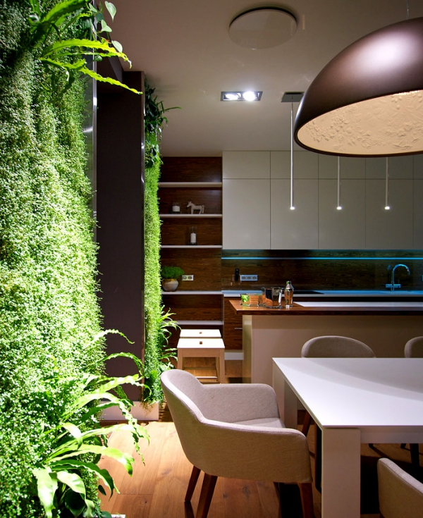 Green Home Design Ideas:  Green Walls And Grand Designs In Apartment Decor