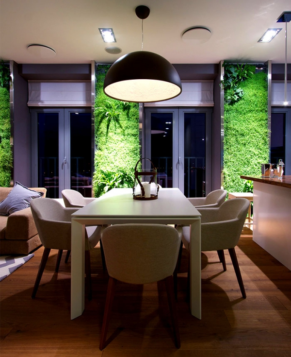 Green walls and grand designs in apartment decor (8)
