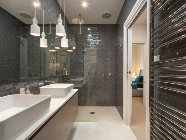 grey tiled bathrooms 2jpg - Tiled Bathrooms