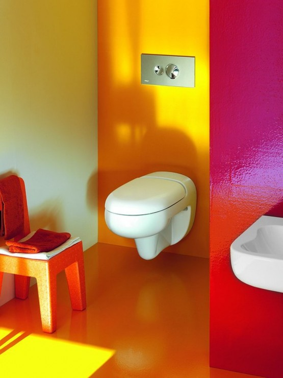 Happy Colors Entrancing Happy Colors In The Kid's Bathroom  Adorable Home Review