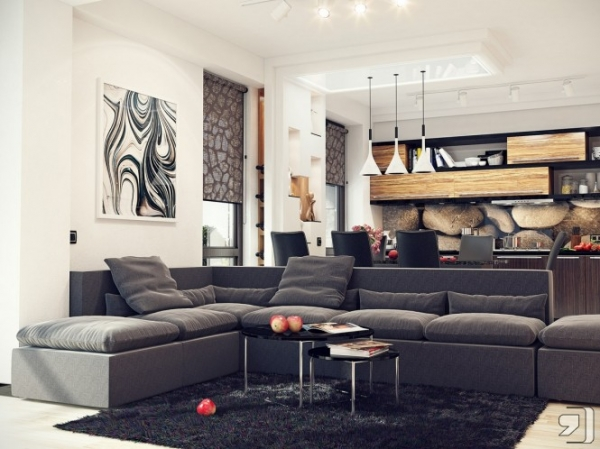 How to apply contemporary style in the living room