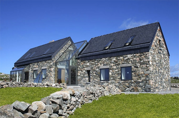 Modern stone cottage in ireland adorable home for Modern cottage house plans ireland