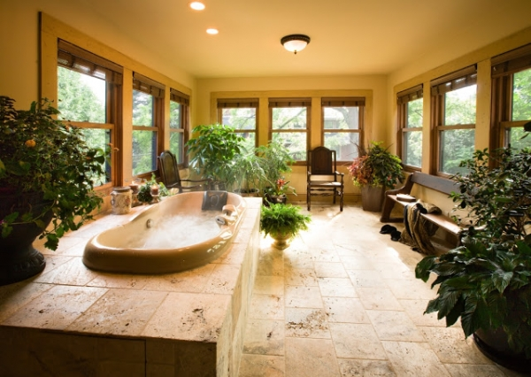 Inspiration amazing bathrooms adorable home - Plantes pour salle de bain ...