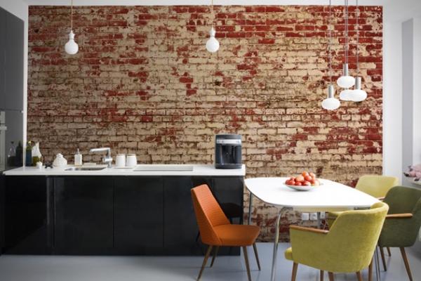 Interior Decoys Convincing Brick Wallpaper Ideas Adorable Home