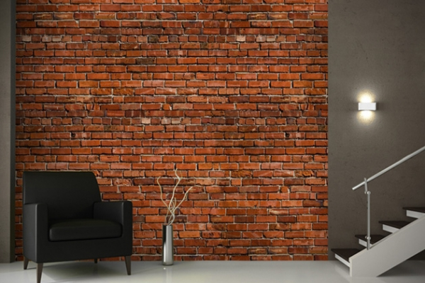 Brick wallpaper great interior design challenge joy studio design gallery best design for Brick wallpaper interior design