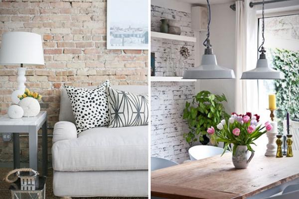 Interior decoys convincing brick wallpaper ideas adorable home - Brick wallpaper bedroom design ...