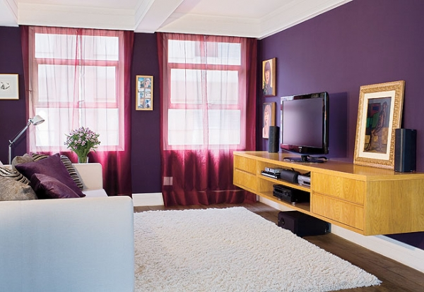Interior design in purple 14